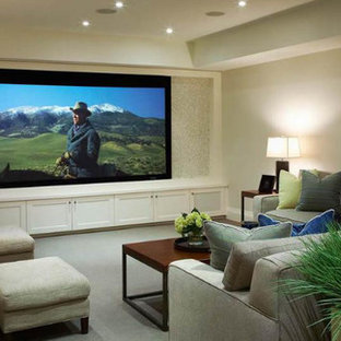 This is an example of a traditional home cinema in Toronto.