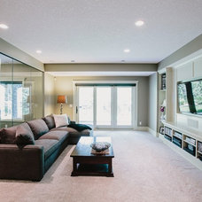 Traditional Home Theater by Defined Luxury Built