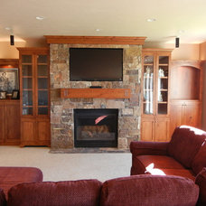 Traditional Home Theater by Design Insight