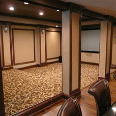 Traditional Home Theater by LEFKO Design + Build