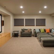 Contemporary Home Theater by Dyna Contracting