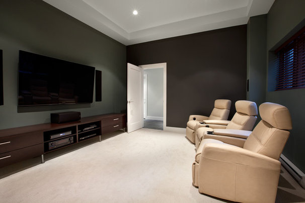 Contemporary Home Theater by Best Builders ltd