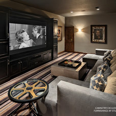Eclectic Home Theater Eclectic Media Room