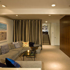 Contemporary Home Theater by Shane Aspen Real Estate
