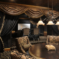 Traditional Home Theater by Feathers Fine Custom Furnishings