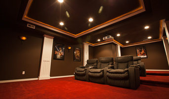 ElkStone theater in a finished basement