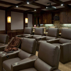 Transitional Home Theater by Ellen Grasso & Sons, LLC
