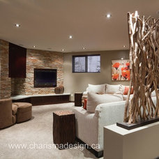 Contemporary Home Theater by Charisma, the design experience