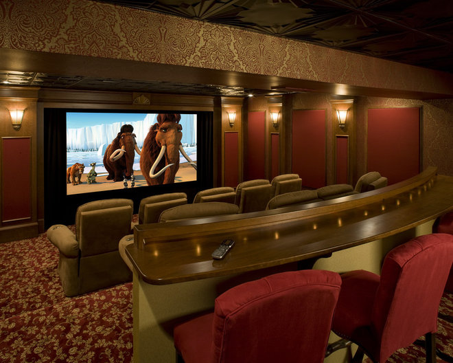 Traditional Home Theater by Media Rooms Inc