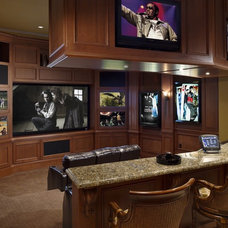 Traditional Home Theater by Olde World Cabinetry