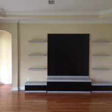 Modern Home Theater by Bentley Design