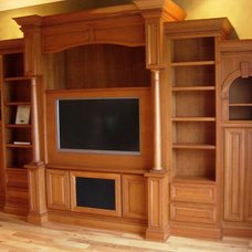 Traditional Home Theater by PM Custom Designs Inc.