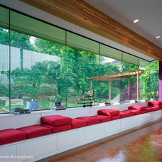 Contemporary Home Theater by CG&S Design-Build