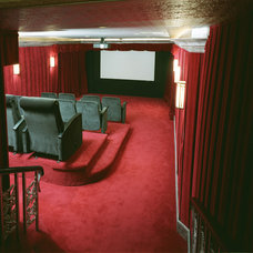 Traditional Home Theater by Canyon Construction