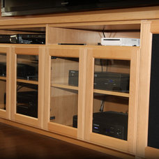Traditional Home Theater by Valet Custom Cabinets & Closets