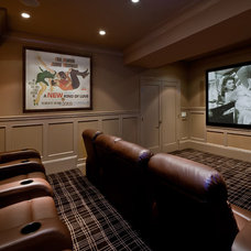Traditional Home Theater by Evelyn Benatar, New York Interior Design