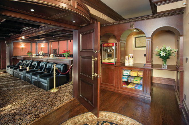Traditional Home Theater by Electronics Design Group, Inc.