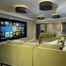 Eclectic Home Theater by Realm Control