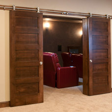 Contemporary Home Theater by Radue Homes Inc.