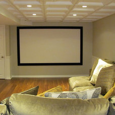 Traditional Home Theater by Lellbach Builders