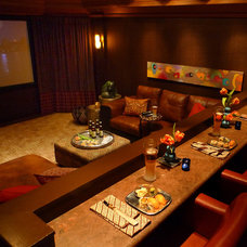 Contemporary Home Theater by Adcock-Smith Design