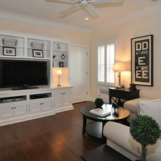 Traditional Home Theater by Stonington Cabinetry & Designs