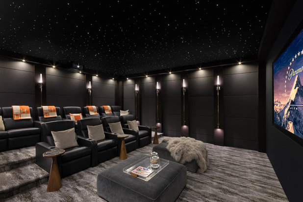 Contemporary Home Theatre by Euroline Steel Windows