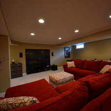 Traditional Home Theater by Basement Masters