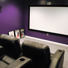 Contemporary Home Theater by Lensis Builders, Inc.