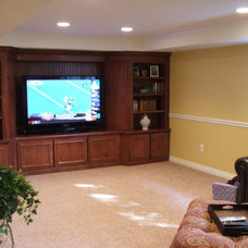 Traditional Home Theater by Finished Basements Plus