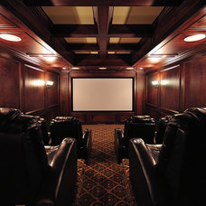 Modern Home Theater by Finishing Touches Interiors By Design, Inc.