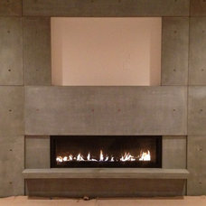 Modern Home Theater by Alchemy Concrete Works, LLC