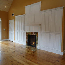 Traditional Home Theater by The Wood Shed