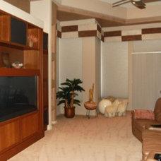 Contemporary Home Theater by Sandella Custom Homes, LLC