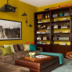 modern media room by Chris Barrett Design