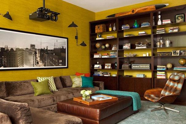 Modern Home Theater by Chris Barrett Design