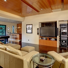 Contemporary Home Theater by McClellan Architects