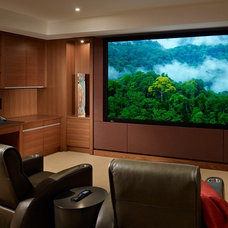 Contemporary Home Theater by NB Design Group, Inc