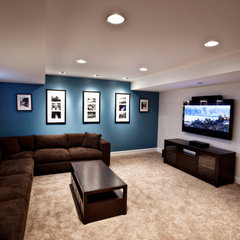 traditional media room by Ryan Duebber Architect, LLC