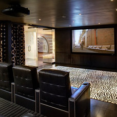 Contemporary Home Theater by Maxey Hayse Design Studios, Inc