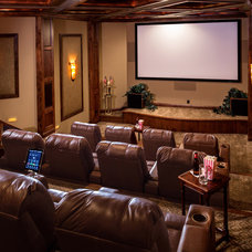 Traditional Home Theater by Designs Galore, LLC