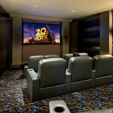 Contemporary Home Theater by Custom Dreams Construction Group