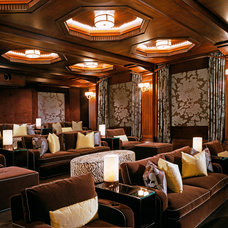 Traditional Home Theater by Finton Construction