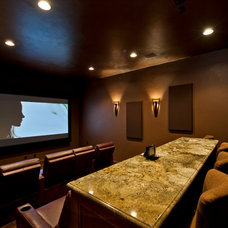 Traditional Home Theater by Bella Villa Design Studio