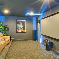 Modern Home Theater by Hensley Premier Builders