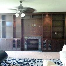 Contemporary Home Theater by California Closets Maryland