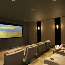 Contemporary Home Theater by Ana Williamson Architect