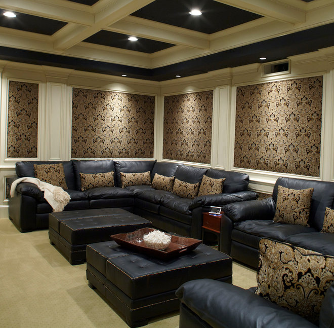 Contemporary Home Theater by Insidesign