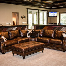 Traditional Home Theater by Kitty Raulston-Thomas Interior Designs