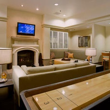Traditional Home Theater by nicole helene designs